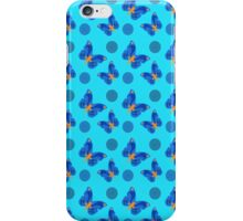 Bright Blue Oriental Butterflies iPhone Case/Skin