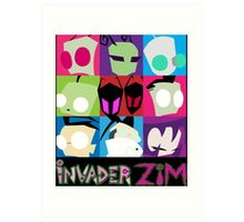 Invader Zim Collection Art Print