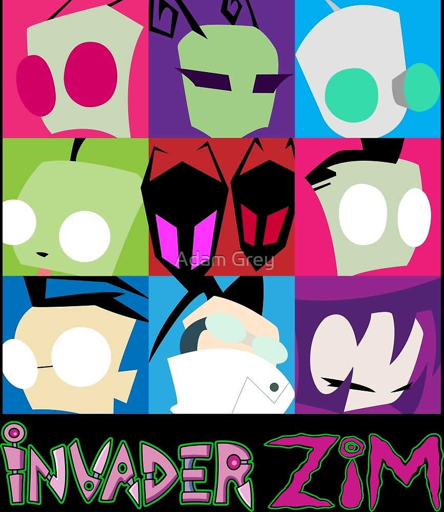 Invader Zim Collection by Adam Grey