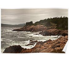Raging wind and sea at Neil's Harbor, Cape Breton Poster