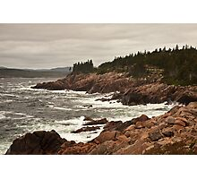 Raging wind and sea at Neil's Harbor, Cape Breton Photographic Print