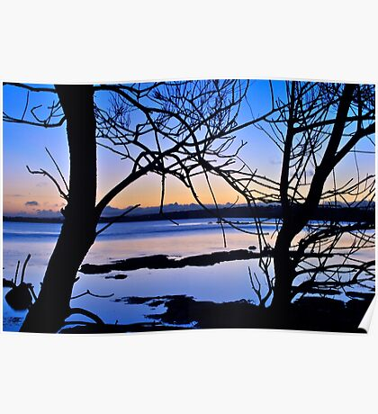 Late Afternoon on Tuggerah Lake. 5-10-2010. Poster