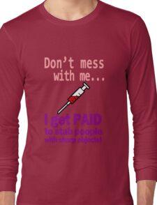 Women's funny nurse geek funny nerd Long Sleeve T-Shirt