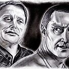 Hannibal's Red Dragon, Mikkelsen and Armitage by jos2507