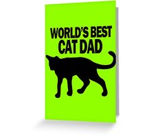 Worlds best cat dad funny geek funny nerd Greeting Card