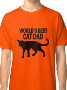 Worlds best cat dad funny geek funny nerd Classic T-Shirt