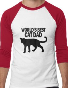 Worlds best cat dad funny geek funny nerd Men's Baseball ¾ T-Shirt