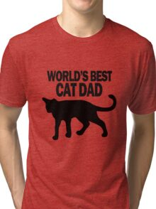 Worlds best cat dad funny geek funny nerd Tri-blend T-Shirt