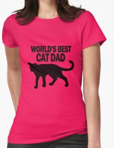 Worlds best cat dad funny geek funny nerd Womens Fitted T-Shirt