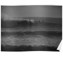Surf Spectators Get Schooled Poster