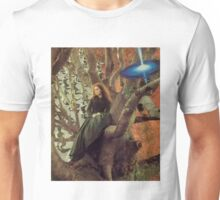 Woman in Tree Unisex T-Shirt