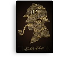 Sherlock Holmes The Canon Canvas Print