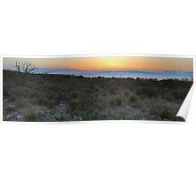 High Desert Sunrise - Guadalupe Mountains Poster