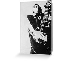 Punk Rocker with Guitar Greeting Card