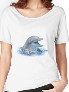 Happy Dolphin Women's Relaxed Fit T-Shirt