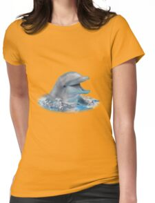Happy Dolphin Womens Fitted T-Shirt