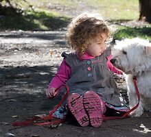 Child and her Dog by Austscapes