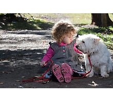 Child and her Dog Photographic Print