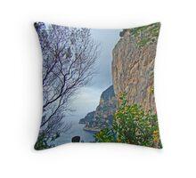 Capri Cliffs Throw Pillow