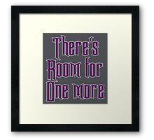 Room for one more Framed Print