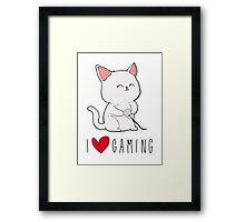 Gamer Kitty Framed Print