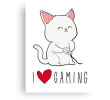 Gamer Kitty Canvas Print