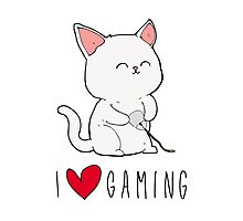 Gamer Kitty Photographic Print