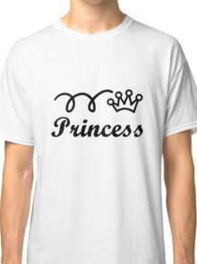 Yellow princess crown baby jumpsuit for cute girl geek funny nerd Classic T-Shirt