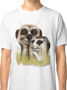 Two Meerkats in grass Classic T-Shirt