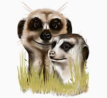 Two Meerkats in grass Long Sleeve T-Shirt