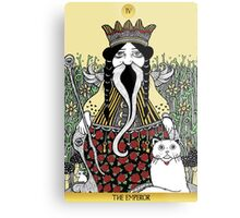 The Emperor (Tarot of the Roses)  Metal Print