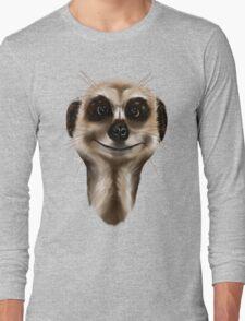 Meerkat face Long Sleeve T-Shirt