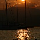 Sun Set in the South Of France - St Tropez by Samuel  Dodd