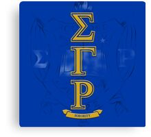Sigma Gamma Rho Vertical Canvas Print