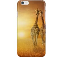 Giraffes wheat field iPhone Case/Skin
