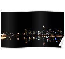 Perth CBD by night Poster