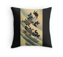 'Turtles' by Katsushika Hokusai (Reproduction). Throw Pillow