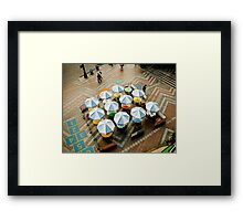 Outdoor Cafe on a Plaza Framed Print