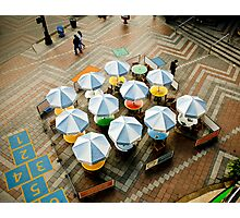 Outdoor Cafe on a Plaza Photographic Print