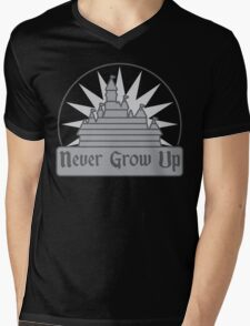 Never Grow Up Mens V-Neck T-Shirt