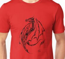 Tribal Dragon Red Unisex T-Shirt