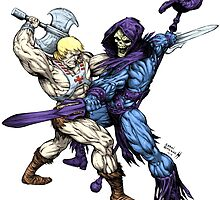 Heman versus Skeletor by SirG