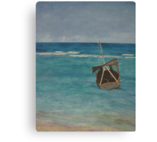 Acrylic Painting - Into The Great Wide Open Canvas Print