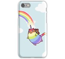 Rainbow Butterfly Unicorn Kitten iPhone Case/Skin