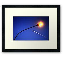 Streetlight Contrail Framed Print
