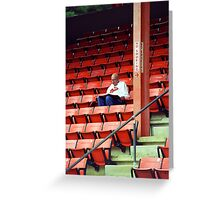 The Baseball Fan Greeting Card