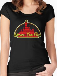 Never tool old MOUSE colors Women's Fitted Scoop T-Shirt