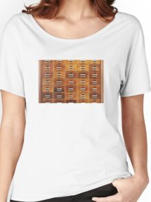 Vintage wooden drawers at the Royal Library in Copenhagen, DENMARK Women's Relaxed Fit T-Shirt