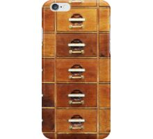 Vintage wooden drawers at the Royal Library in Copenhagen, DENMARK iPhone Case/Skin