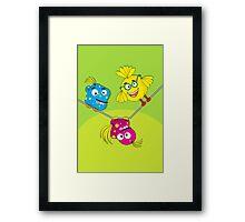Wacky Bird Hangout Framed Print
